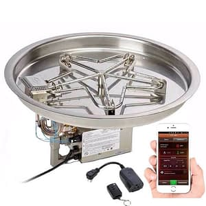 HPC Round Fire Pit Insert – Electronic Ignition