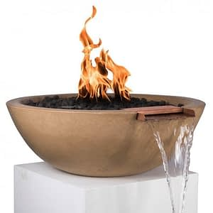 Sedona Fire and Water Bowl - BROWN