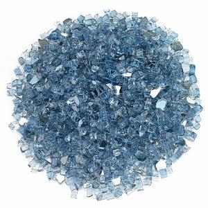 1/4 Inch Pacific Blue Reflective Fire Glass - Fire Glass / American Fireglass