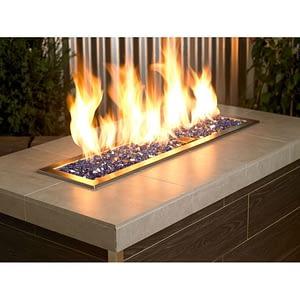 """1/4"""" Cobalt Reflective Fire Glass - Fire Glass / American Fireglass"""