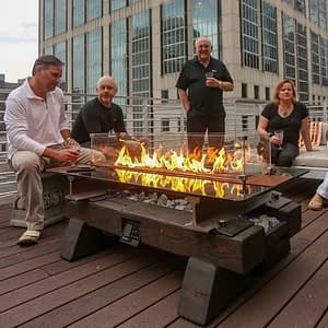 Sleeper Sound Reactive Fire Pit Table / The Music City Fire Company