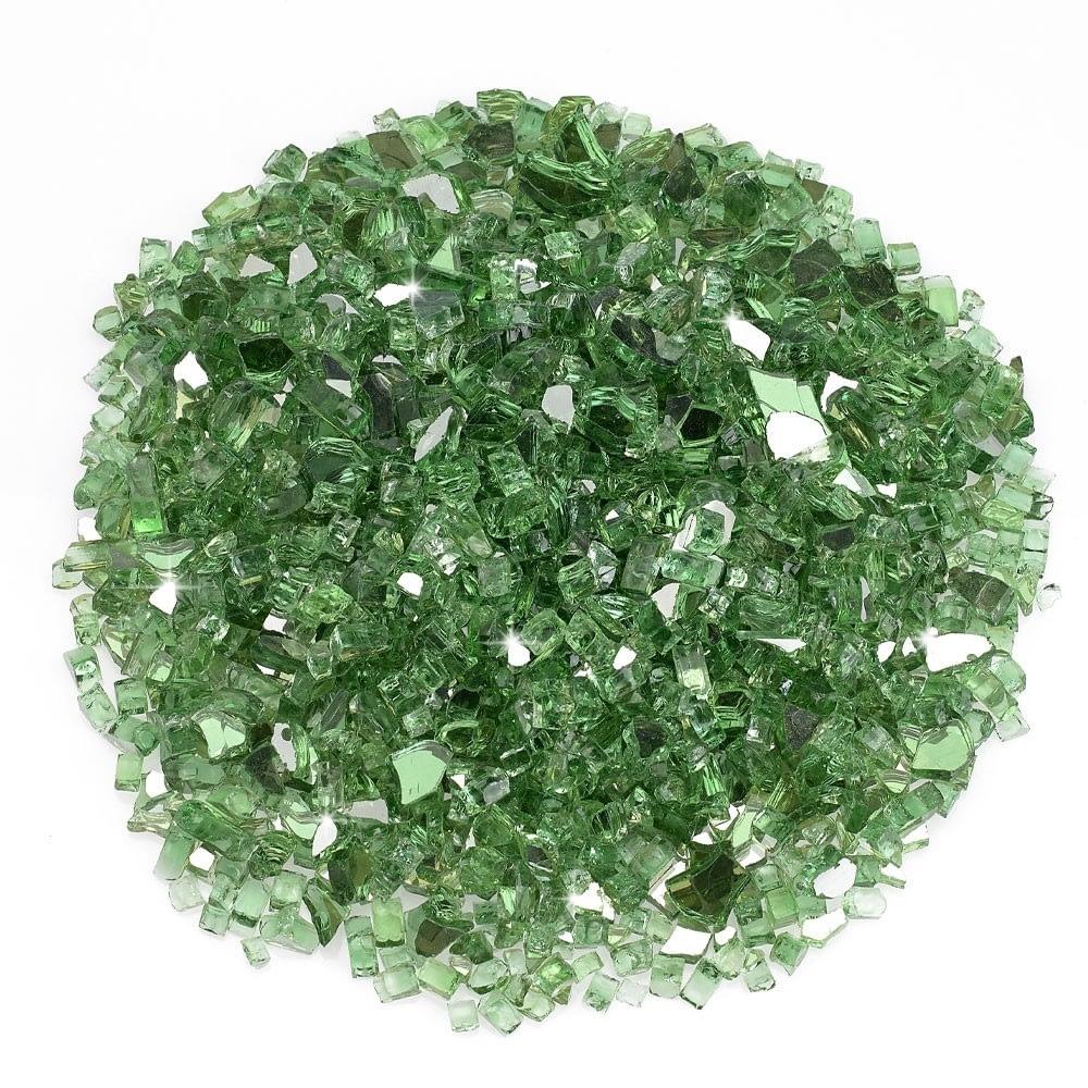 """1/4"""" Evergreen Reflective Fire Glass"""