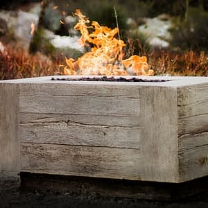 Coronado Wood Grain Fire Pit 48 Inch / The Outdoor Plus