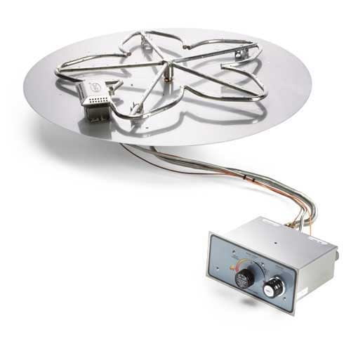 Round Flat Pan Flame Sensing with Spark Ignition