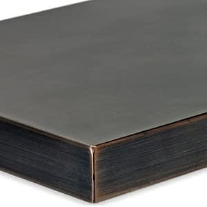 Rectangular Oil Rubbed Bronze Drop-In Fire Pit Pan Lid Corner Detail