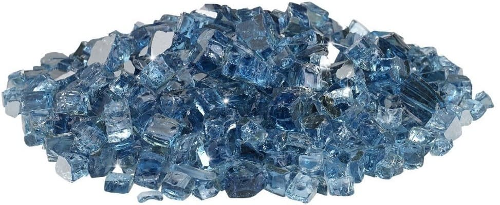 Reflective Fire Glass - Pacific Blue