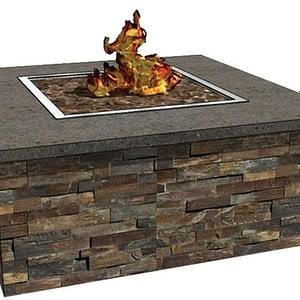 The Finished Square Model Fire Pit Enclosure Kit