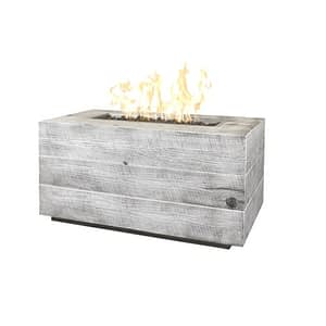 Catalina Wood Grain Fire Pit in Ivory