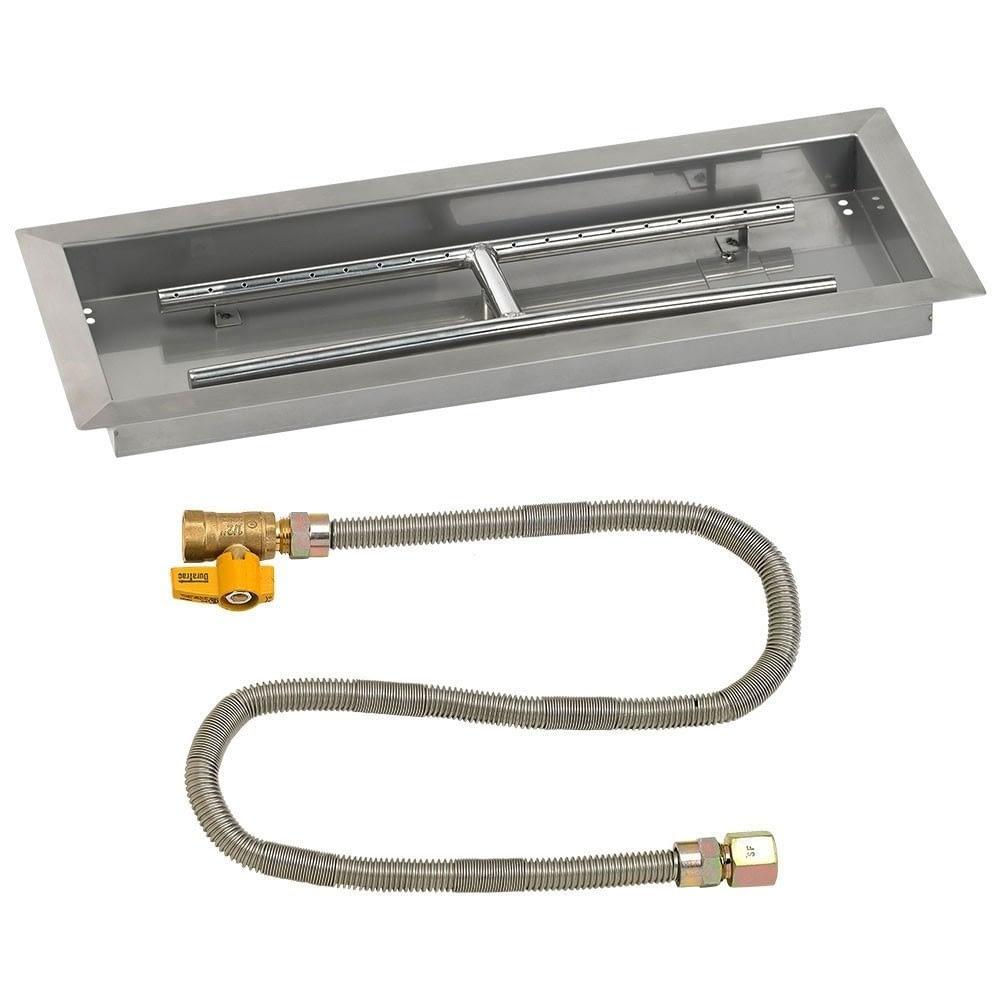 Rectangular Fire Pit Pan with Match Light Kit - SS-AFPPMKIT
