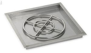 Stainless Steel Square Drop In Pan complete with Burner