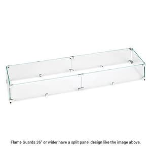 "Flame Guards 36"" and Above Are Split Panel Design"