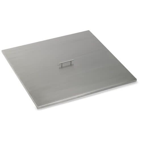 American Fireglass Square Stainless Steel Fire Pit Cover