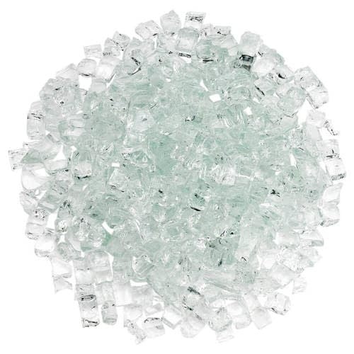 "Classic Fire Glass 1/2"" Clear - 10 lb"