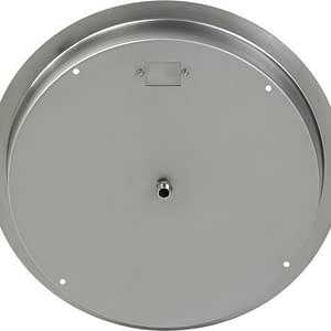American Fireglass Round Stainless Steel Drop-in Fire Pit Pan with Burner