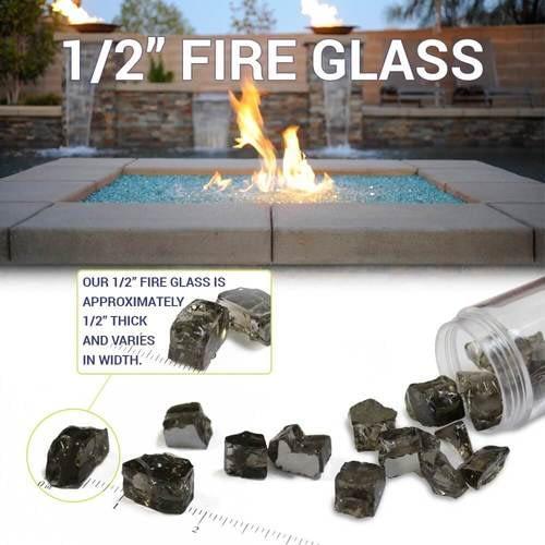 Fire Glass Size Diagram