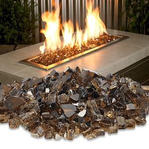 1/2 Copper Reflective Fire Glass 10 lb / American Fireglass