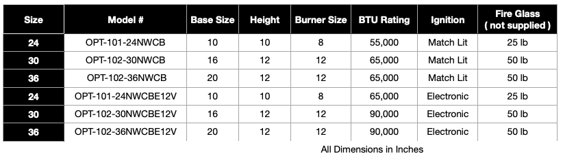 Cazo Copper Fire and Water Bowl Specifications
