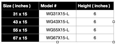 HPC Linear Fire Pit Specification Sheet