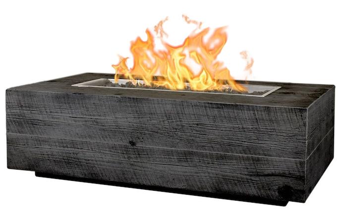 Coronado Wood Grain Fire Pit 48 Ebony