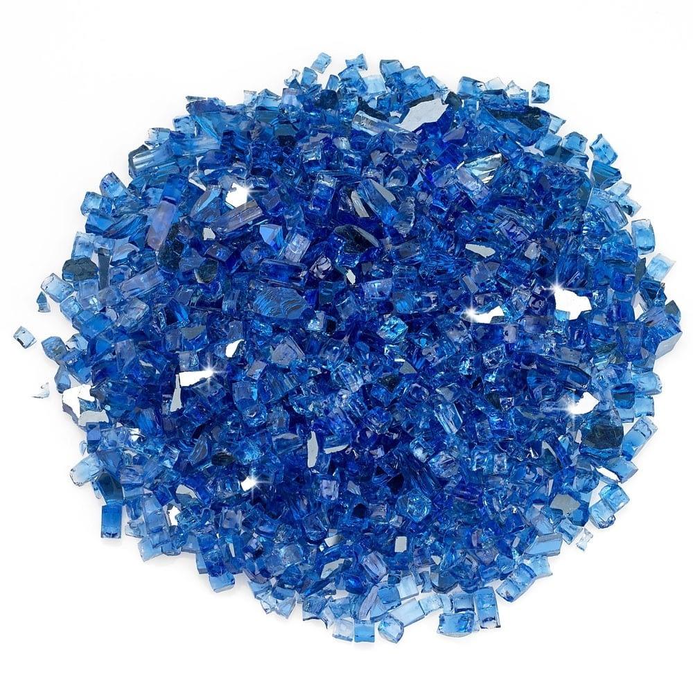 """1/4"""" Cobalt Reflective Fire Glass"""
