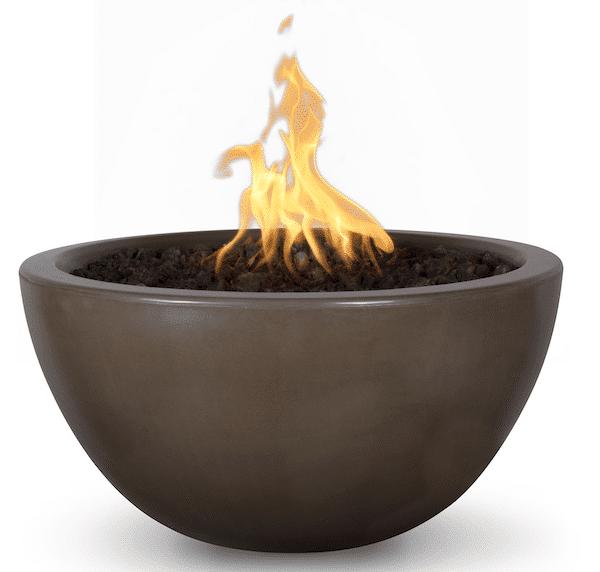 30 Inch Diameter Luna Fire Bowl - Chocolate