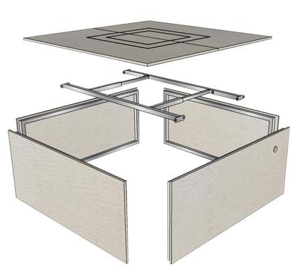 Square Fire Pit Enclosure Kit