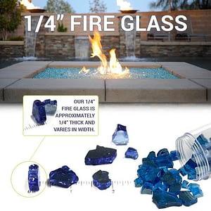 "Classic Fire Glass 1/4"" Bronze - 10 lb"