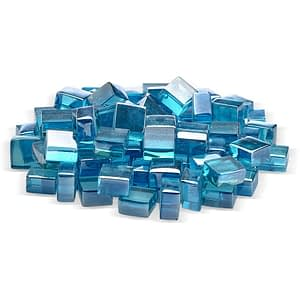 "2.0 Azuria Blue Luster 1/2"" 10 lbs - Fire Glass / American Fireglass"