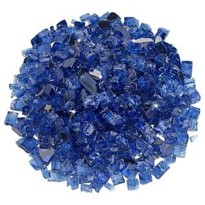 """1/2"""" Cobalt Reflective Fire Glass - Fire Glass / American Fireglass"""