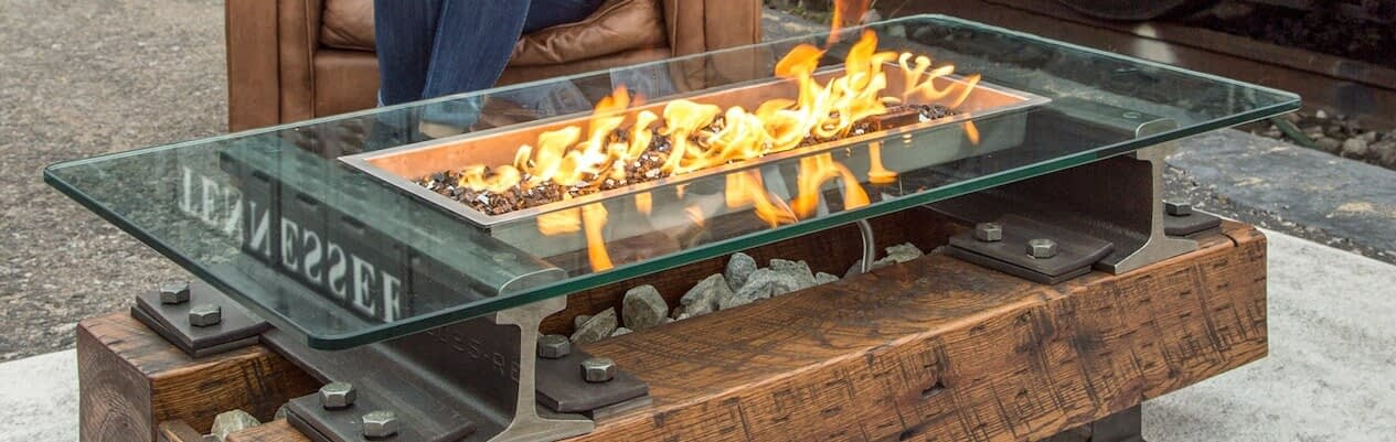 Rail Yard Trackside Fire Pit Table