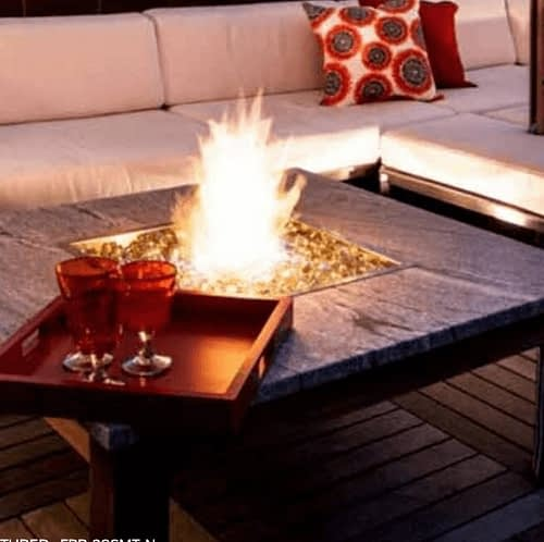 Image Showing Fire Pit Built Using A Square Drop In Pan