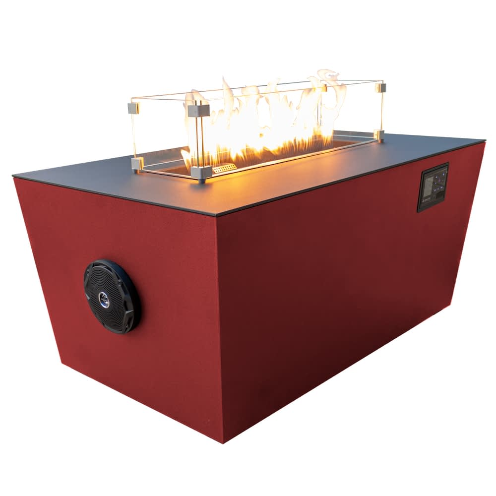 Echo Hue 36 Sound Reactive Fire Pit Desert Red