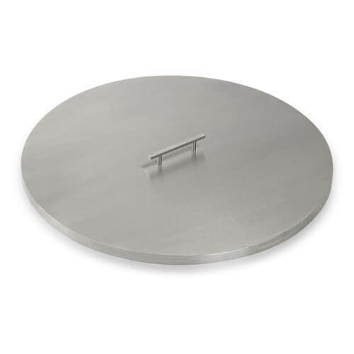 American Fireglass Stainless Steel Fire Pit Cover - Round