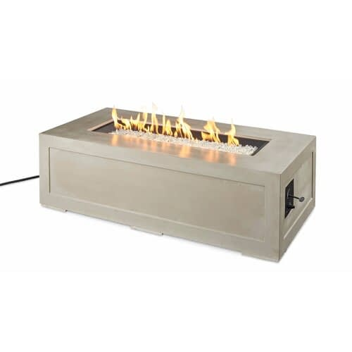Cove Linear Gas Fire Pit Table with Flame
