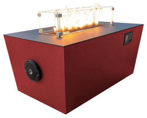 Echo Hue 24 Sound Reactive Fire Pit Desert Red