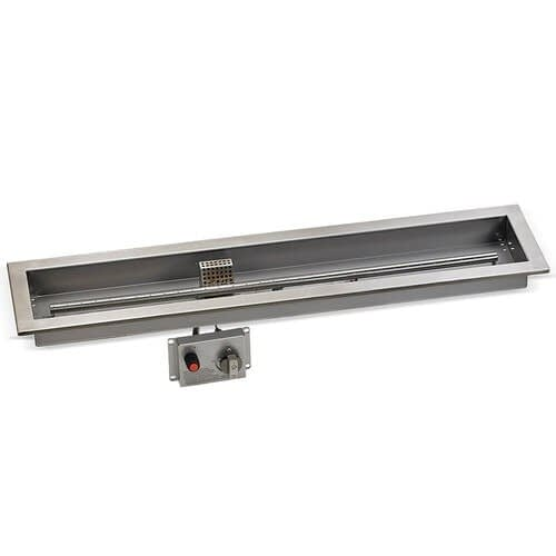 American Fireglass Linear CSA Certified Drop In Tray with Electronic Ignition