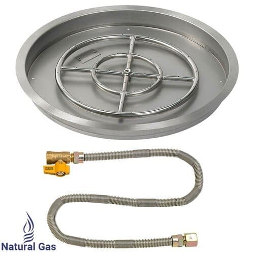 25 Inch Round Match Light Drop In Pan Natural Gas