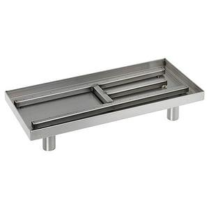 """22"""" Rectangular Stainless Steel Fireplace Pan Burner"""