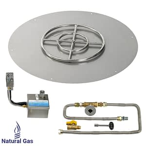 American Fireglass Round Flat Pans with S.I.T. Electronic Ignition