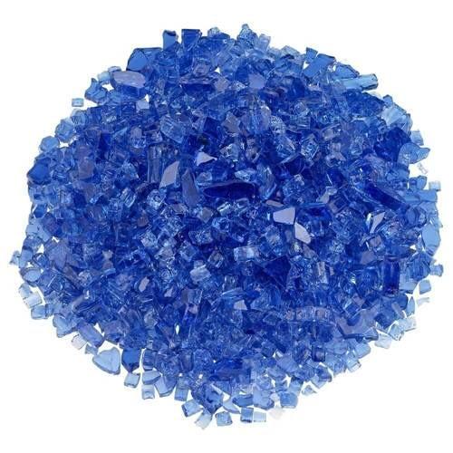 """1/4"""" Cobalt Blue Classic Fire Glass"""