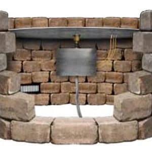 Cross Section Of Fire Pit Structure Showing Pan Installation