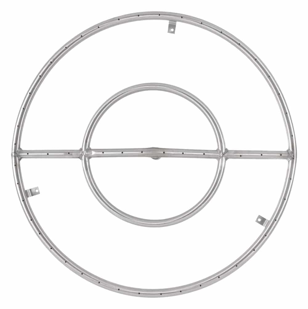 The Outdoor Plus Round 24 Inch Fire Pit Burner Ring