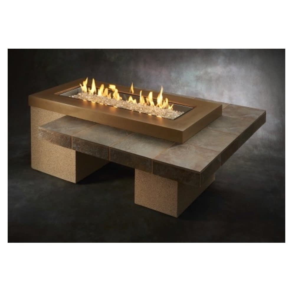 Black Uptown Linear Gas Fire Pit