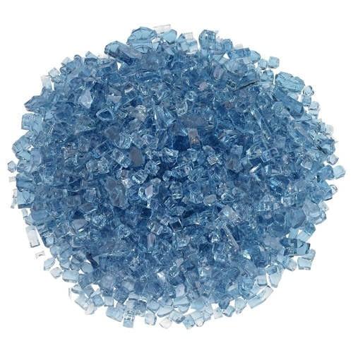 "1/4"" Pacific Blue Classic Fire Glass"