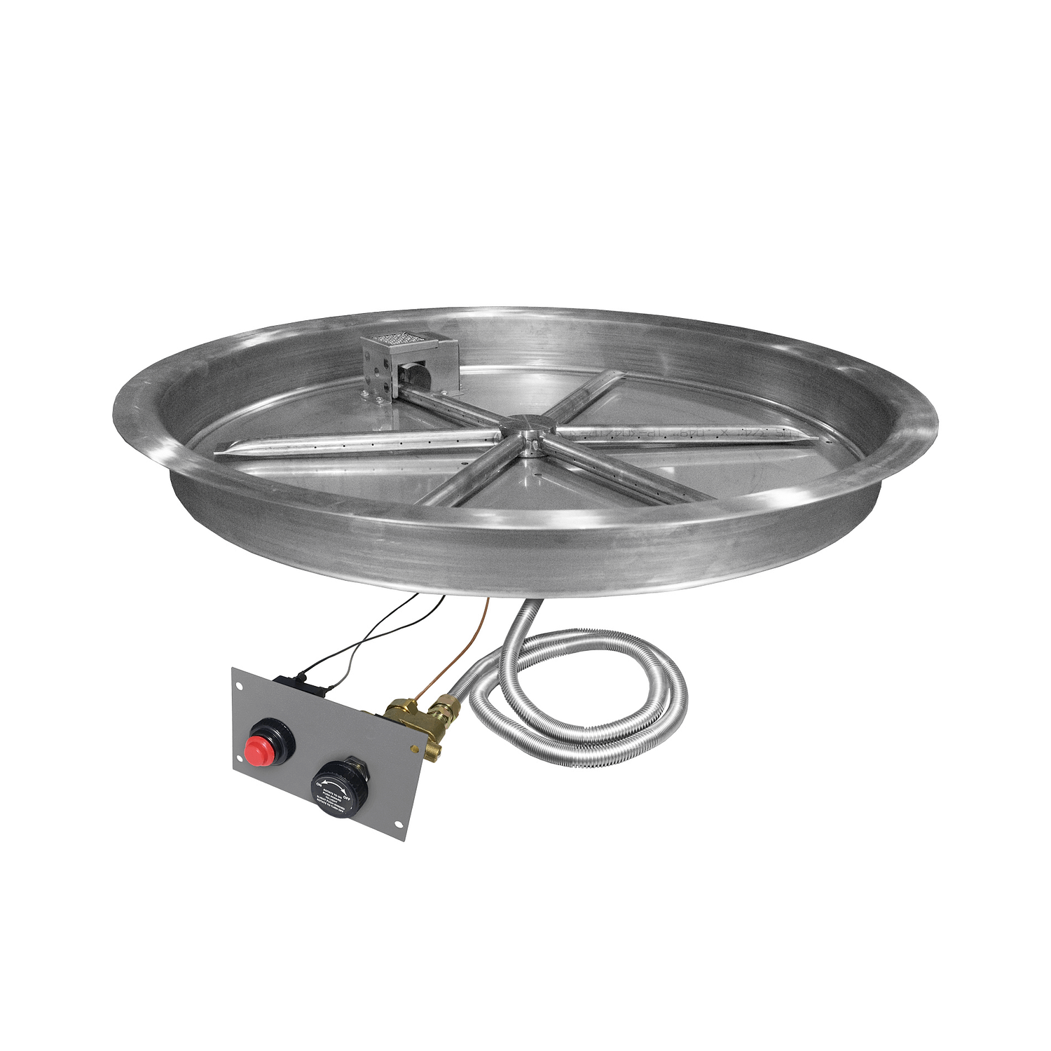 Round Drop In Pan Flame Sensing Spark Ignition