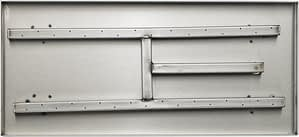 """Top View Of The 22"""" Rectangular Stainless Steel Fireplace Pan Burner"""