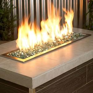 """1/2"""" Evergreen Reflective Fire Glass - Fire Glass / American Fireglass"""