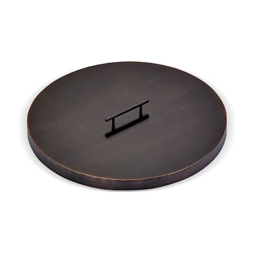 Round Oil Rubbed Bronze Drop-In Fire Pit Pan Lid