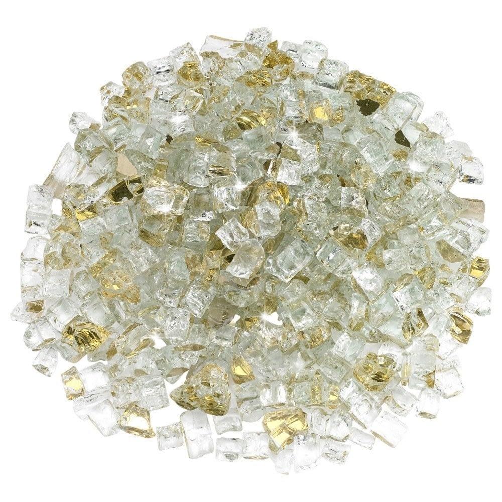 """1/2"""" Gold  Reflective Fire Glass - Fire Glass / American Fireglass"""