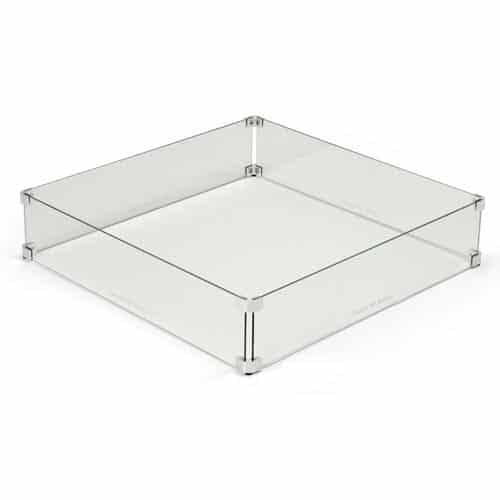 Glass Wind Guard for Square Fire Pit